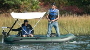 Motor inflatable boat
