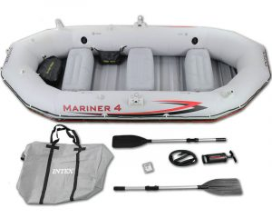 Intex Mariner 4-Person Inflatable Boat - 4 Man Inflatable Boat for Fishing