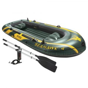 Intex Seahawk 4-Person Inflatable Boat - Best Four Person Inflatable Boat for Fishing