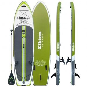 Elkton Outdoors Grebe 12' Inflatable Fishing Paddle Board - top rated inflatable fishing sup in 2019