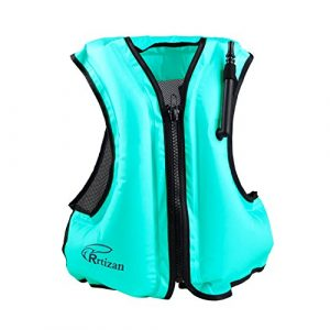 Kingswell Adult Portable Inflatable Swim Vest Life - best life vest for kayak fishing