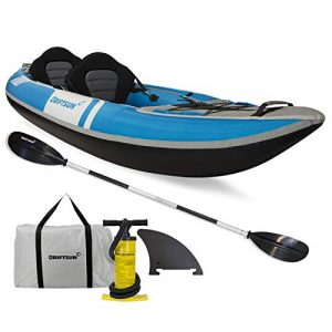 Driftsun Voyager 2 Person Inflatable Kayak - Complete with All Accessories - Top-rated 2 Person Inflatable Kayak for Fishing