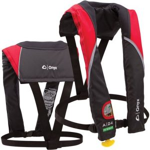 ONYX A-24 Red In-Sight Auto Inflate - best inflatable life vest