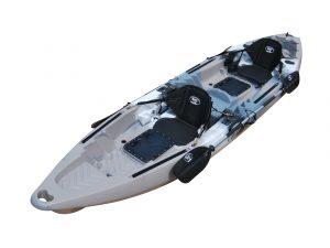 BKC UH-TK122-PS223 Coastal Cruiser 12.9-Foot Tandem Fishing Kayak - Affordable Kayaks for Fishing