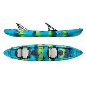 Vibe Kayaks Yellowfin 130T 13-Foot Tandem Sit On Top Kayak - The Most Stable Fishing Kayak