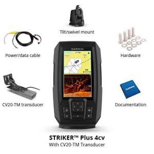 Garmin Striker Plus 4Cv with Cv20-TM Transducer - Best Garmin 4 Fishfinder Under 200